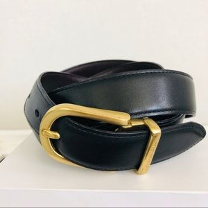 COACH Cut-to-Size Reversible Leather Brass Buckle